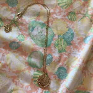 Lily Pulitzer Gold Metallic Charm Necklace
